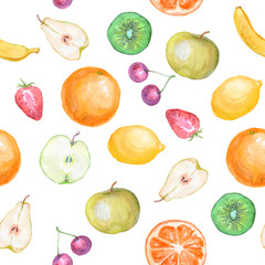 Panel Szklany Owoce seamless fruit background