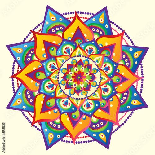 Doppelrollo mit Motiv - Mandala (von Oksana Pravdina)