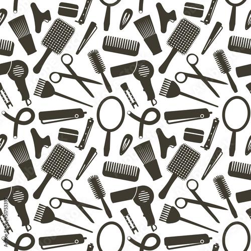 jednolite-wzor-z-symbolami-zwiazane-fryzjerstwo