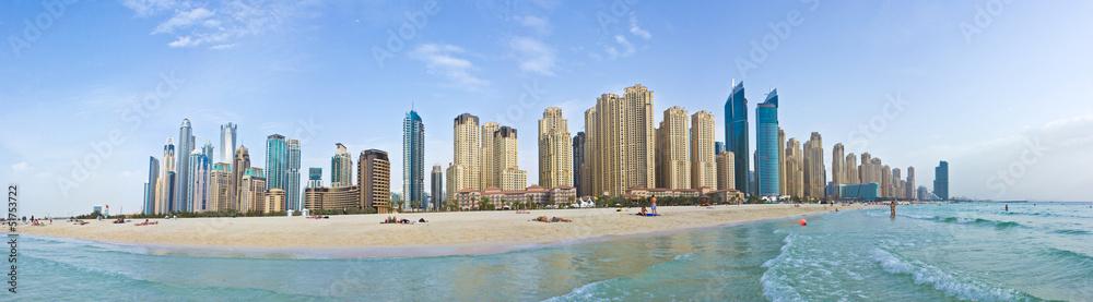 Fotografia Marina Beach - Panorama (Dubai)