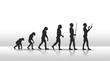 canvas print picture - evolution2504b