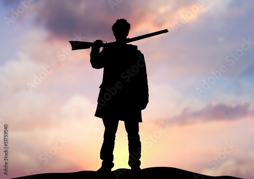 Photo  Rifle man on horizon