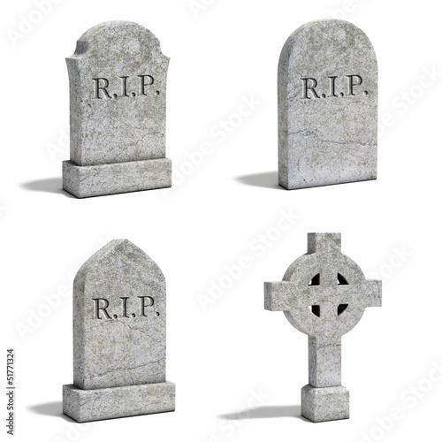 gravestone set Fototapete