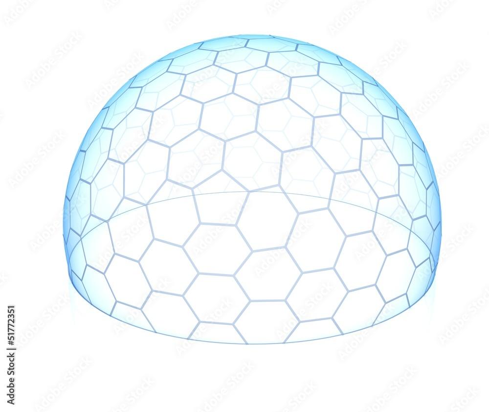 Fototapety, obrazy: hexagonal transparent dome