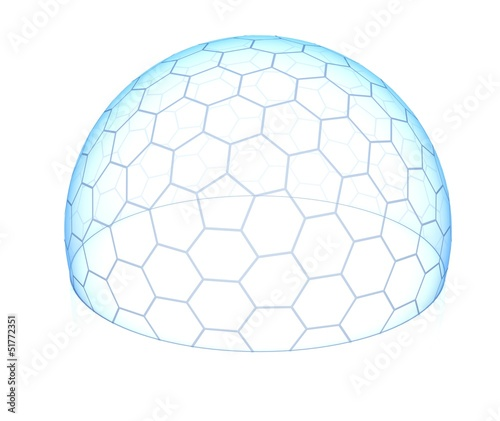 hexagonal transparent dome Fototapeta