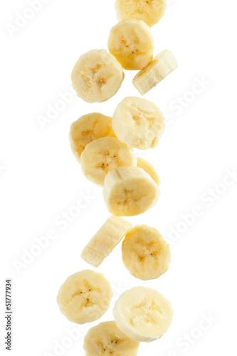 Fotografie, Tablou  Banana Slices