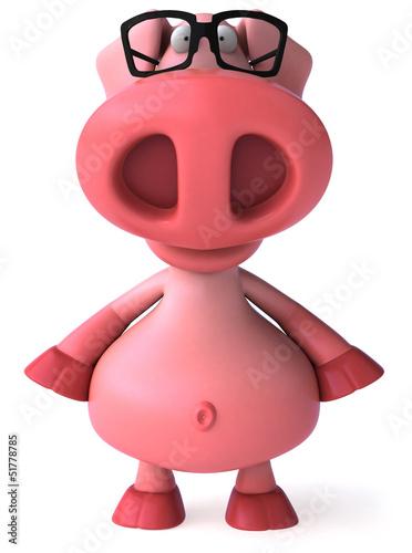 In de dag Boerderij Fun pig
