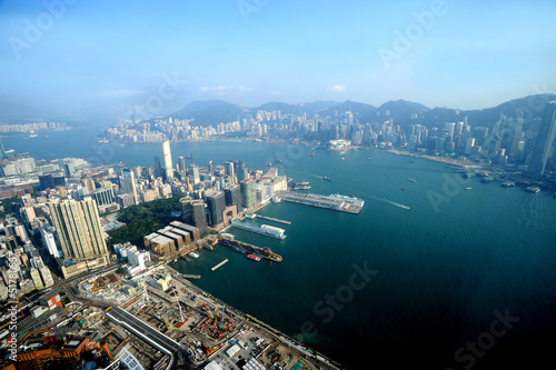 Photo  view and skyline in Hong Kong