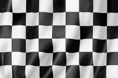 Auto racing finish checkered flag