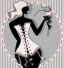 Pink Lady In A Corset