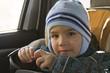 little boy in the car