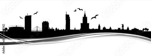 Fototapeta Skyline Warschau obraz