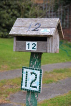 Old Empty Wooden Mailbox