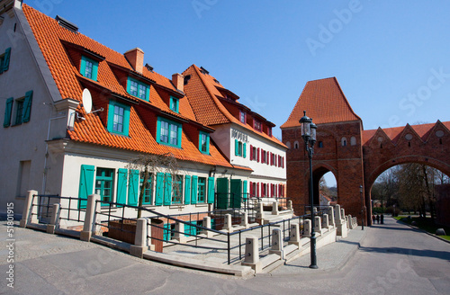 Teutonic castle-monument Unesco in Torun, Poland
