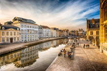 HDR Image Of Canal In Gent, Belgium