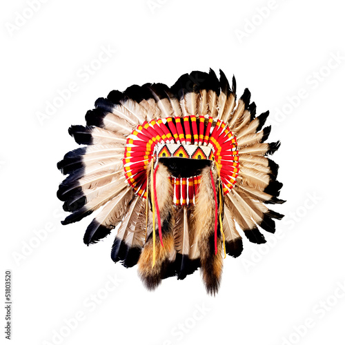 native american indian chief headdress indian chief mascot ind rh stock adobe com Indian Chief Skull Logo Indian Chief Motorcycle Logo