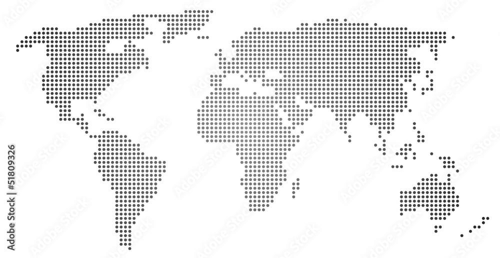 Fototapety, obrazy: Weltkarte