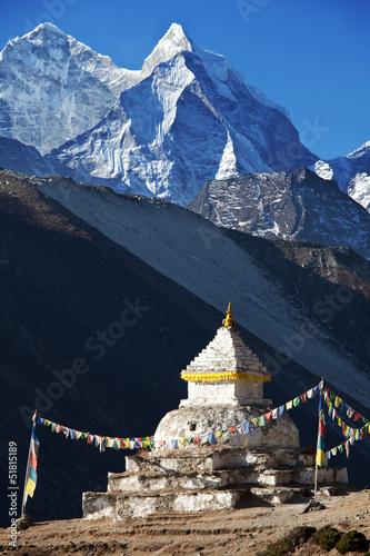 Wall Murals Nepal Stupa in Himalaya