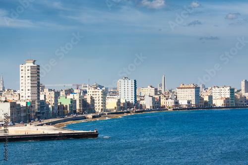 Photo The Havana skyline facing the sea