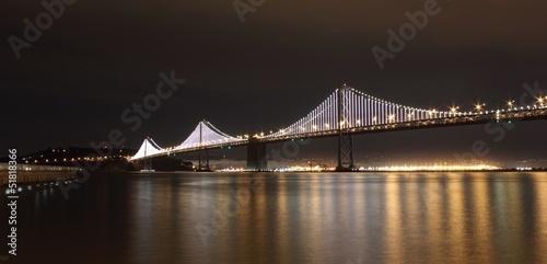 Bay bridge at night, san francisco, april 2013