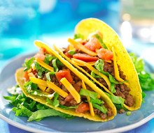 Mexican Beef Tacos In Hard She...