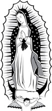 Virgin Of Guadalupe Black And ...