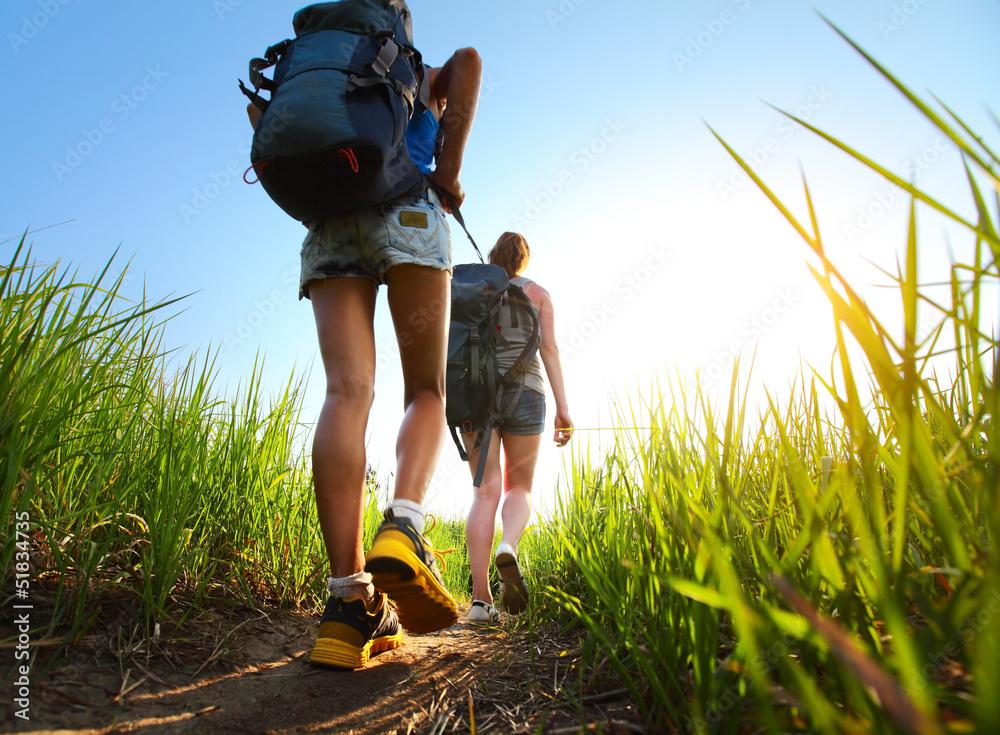 Foto-Vorhang - Hikers