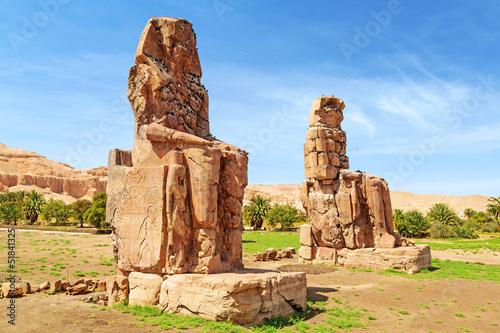 Tuinposter Egypte The Colossi of Memnon in Luxor, Egypt