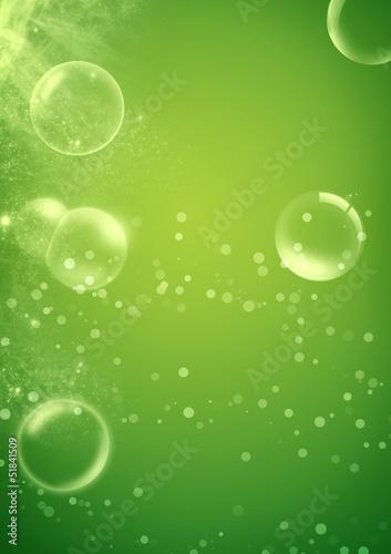 piekny-abstrakt-zieleni-tlo-z-mydlanymi-bablami
