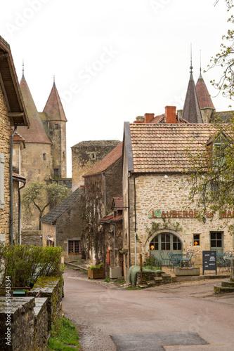 Poster Brugge Village de Châteauneuf en Auxois