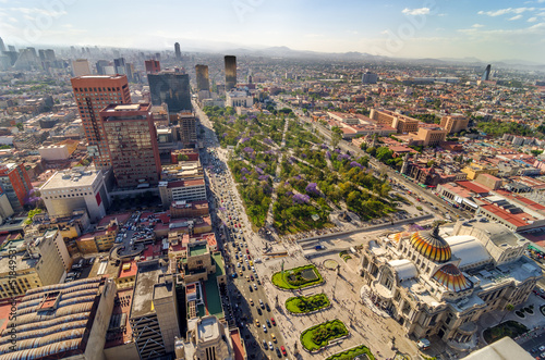Wall Murals Mexico Mexico City Aerial View