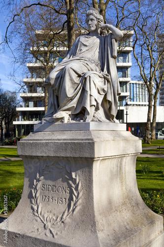Fotografie, Tablou Sarah Siddons Statue on Paddington Green