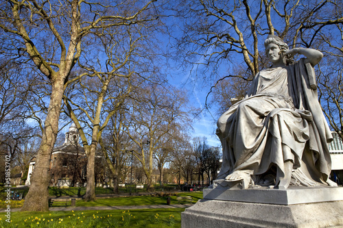 Sarah Siddons Statue on Paddington Green Tablou Canvas
