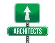 architects road sign illustration design