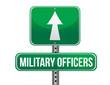 military officers road sign illustration design