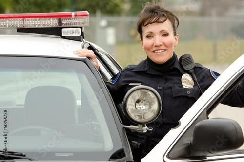 Fotomural  smiling officer