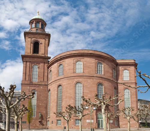 Stickers pour porte Pierre, Sable Die Frankfurter Paulskirche: Ein Symbol für deutsche Demokratie