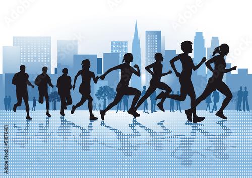 Laufen in der City - 51870401