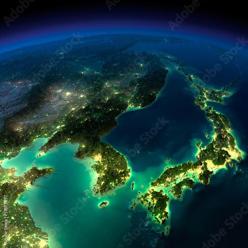 nocna-ziemia-kawalek-azji-korea-japonia-chiny