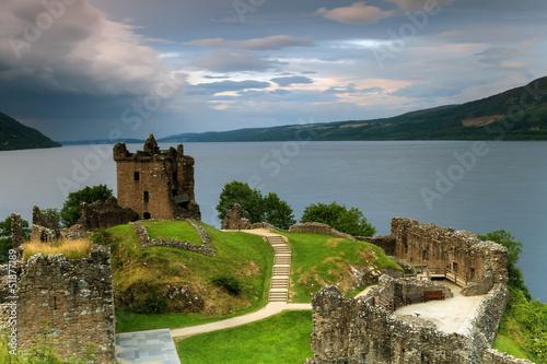 Deurstickers Rudnes Célèbre château du Loch Ness