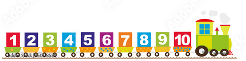 Pociąg i cyfry - 51878550