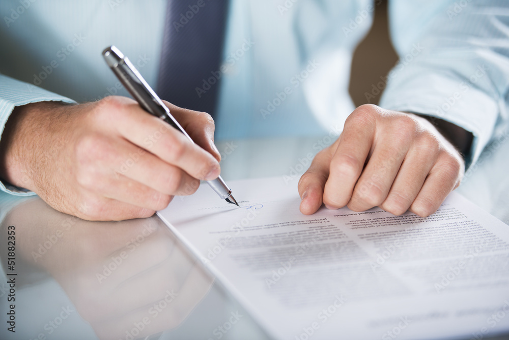 Obrazy na płótnie i fototapety na ścianę: Business contract