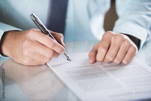 Fotografía  Contrato de negocio
