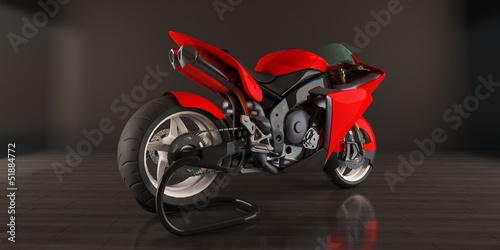 Foto op Canvas Motorfiets red bike