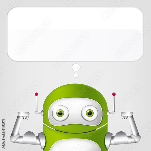 Canvas Prints Robots Cute Robot