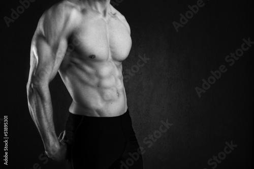 Fotografia  sexy muscular man