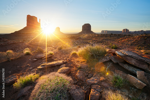 Photo sur Toile Marron chocolat Monument Valley