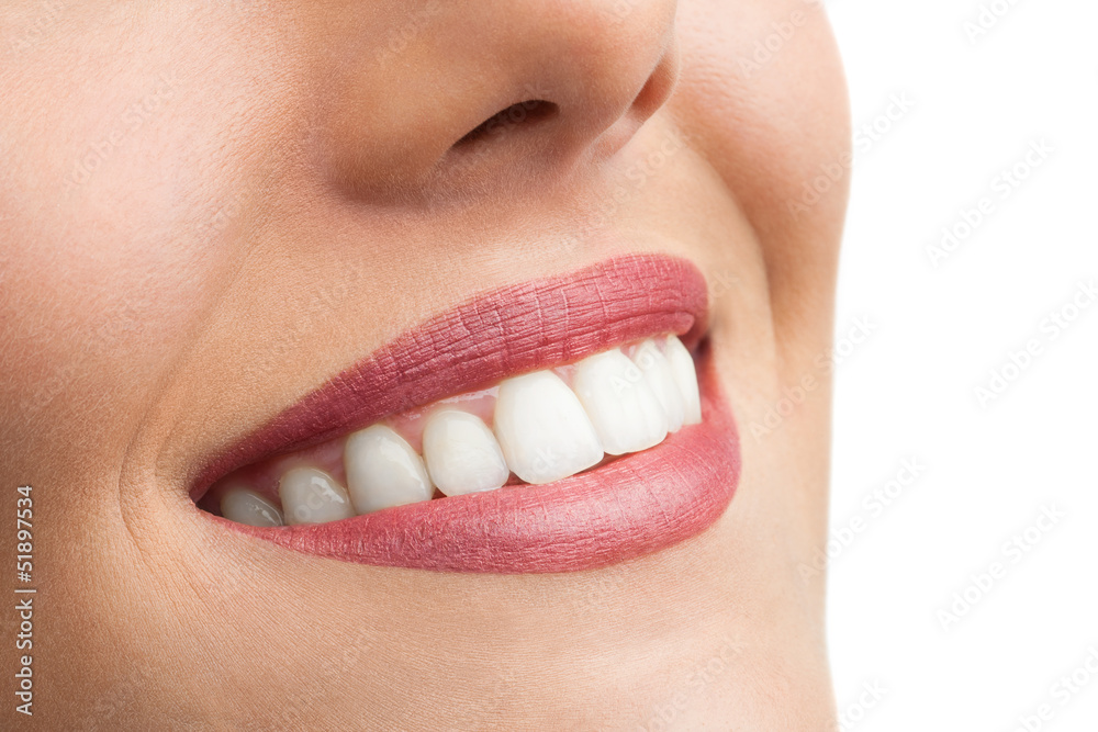 Fototapety, obrazy: Macro close up of perfect teeth.