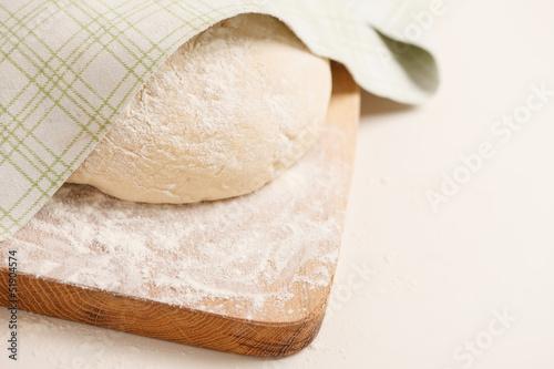 Foto op Aluminium Baobab Dough on wooden board