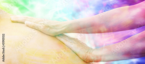 Photo  Dreamy Massage website header, soft focus